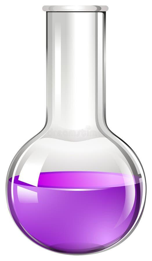 Purpurrote Flüssigkeit im Glasbecher stock abbildung