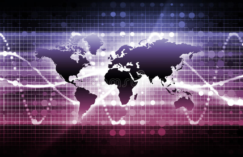Purpurrote Geschäfts-Media lizenzfreie abbildung