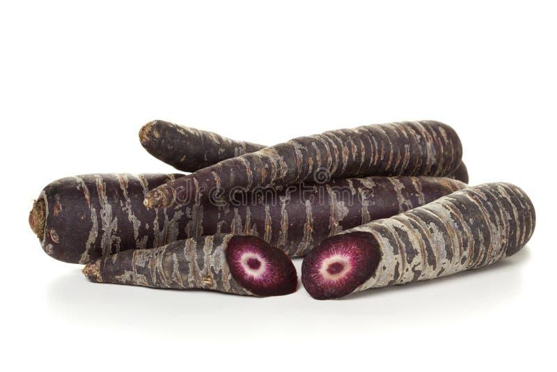 Purpurrote Karotten lokalisiert lizenzfreies stockfoto