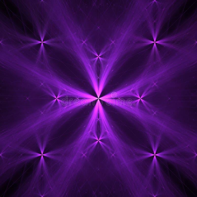 Purpurrote Kreuze | Fractal Art Background Wallpaper lizenzfreie abbildung