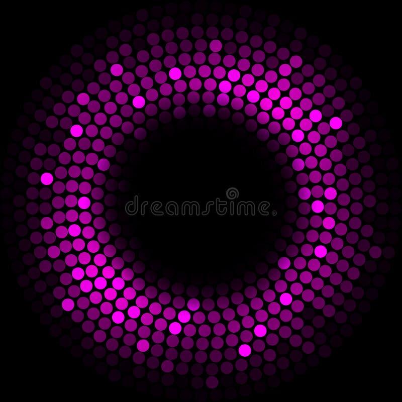 Purpurrote Leuchten lizenzfreie abbildung