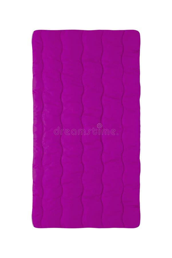 Purpurrote Luftmatraze lokalisiert auf Weiß lizenzfreies stockbild