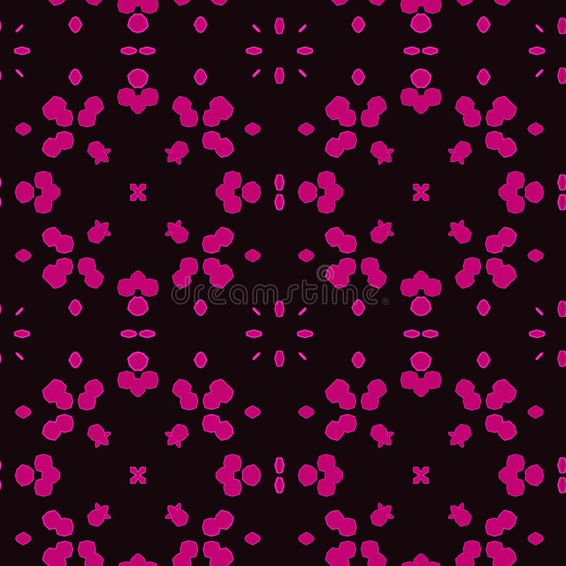 Purpurrote marokkanische Fliesen - nahtloses Muster lizenzfreie abbildung