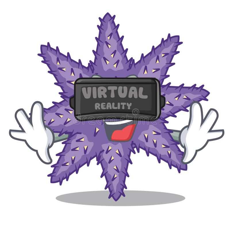 Purpurrote Starfish der virtuellen Realität in der Zeichenform vektor abbildung