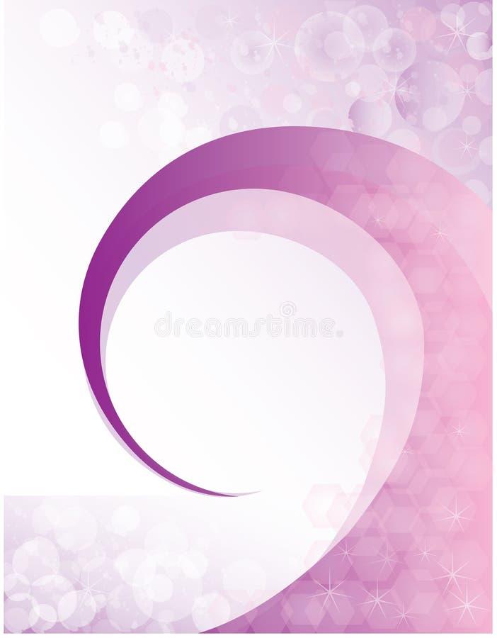 Purpurrote Strudel-Frühlings-Hintergrund-Blasen-helles Gespür lizenzfreie abbildung