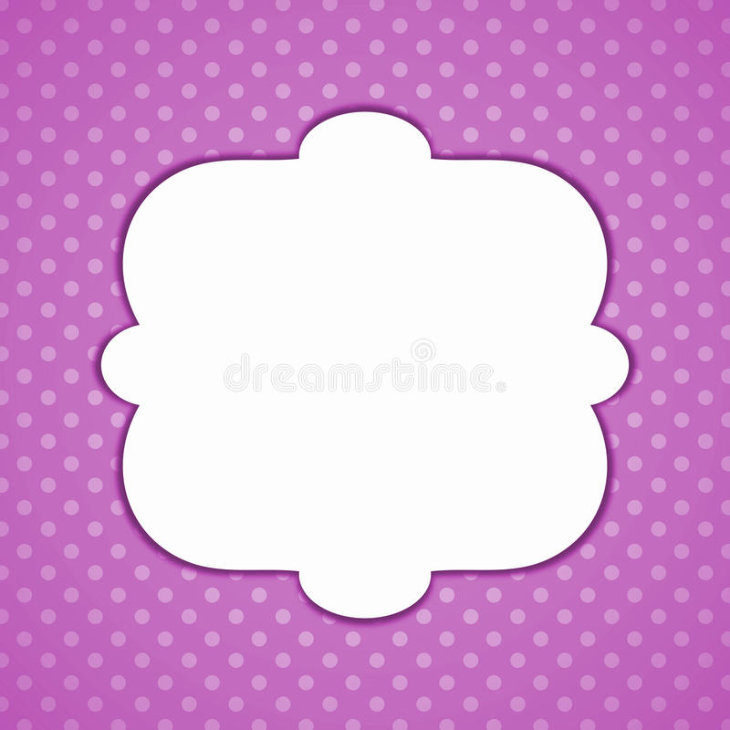 Purpurrote Tupfenweinlese-Einladungskarte stock abbildung