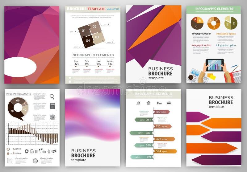 Purpurrote und orange Geschäftshintergründe und Informationen des abstrakten Begriffs stock abbildung