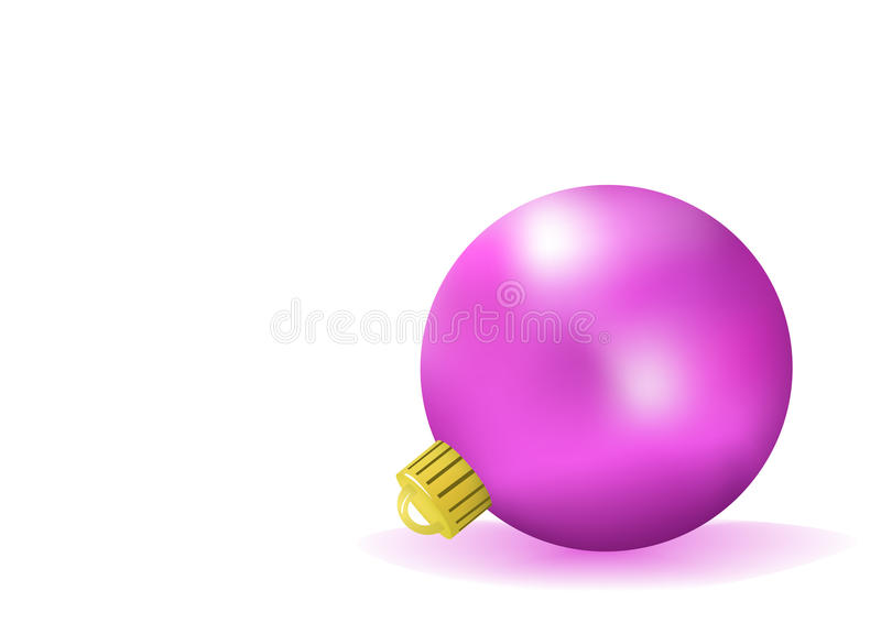 Purpurrote Weihnachtskugel stock abbildung