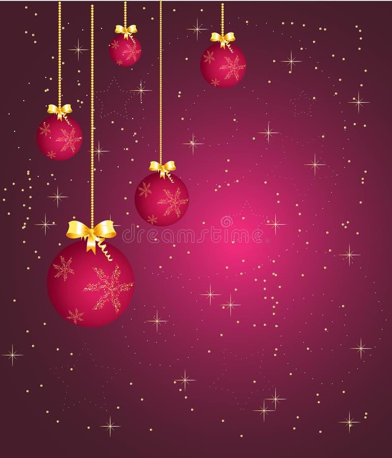 Purpurrote Weihnachtskugeln lizenzfreies stockbild
