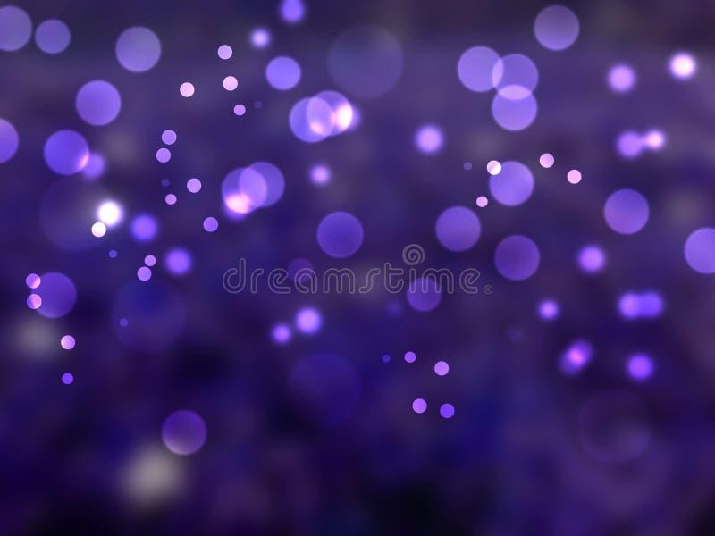 Purpurroter abstrakter heller bokeh Hintergrund, Kreisfacula lizenzfreie stockbilder