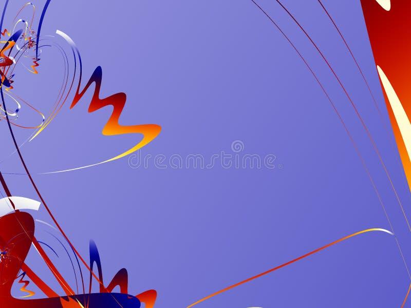 Purpurroter abstrakter Hintergrund Fractal lizenzfreie abbildung