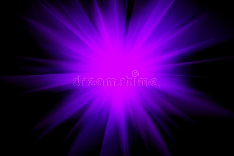 Purpurroter blauer heller Lichtblitz in der Dunkelheit Springen, um einen Frisbee, unscharfen Hintergrund abzufangen Staburst lizenzfreie abbildung