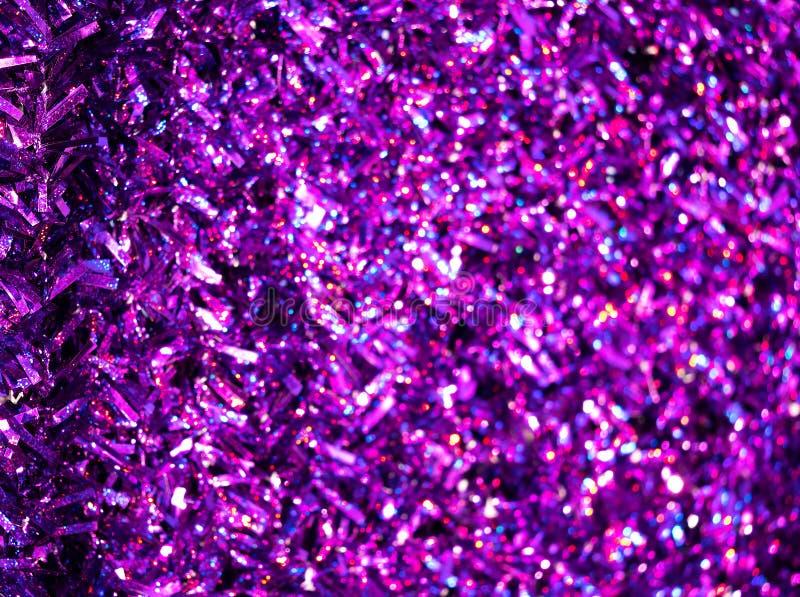 Purpurroter Dekorationshintergrund des neuen Jahres stockfoto
