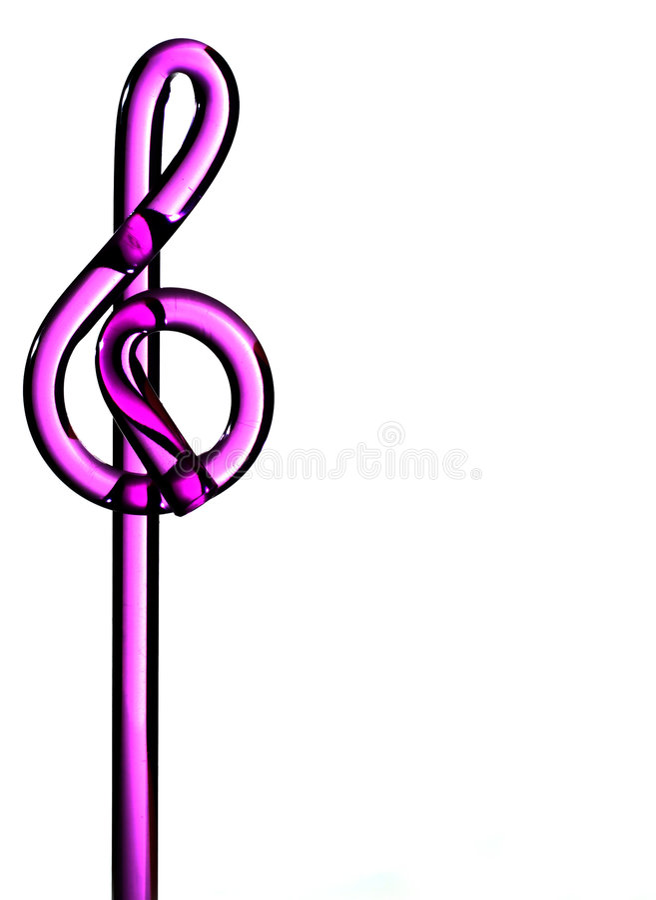 Purpurroter dreifacher Clef stockbilder