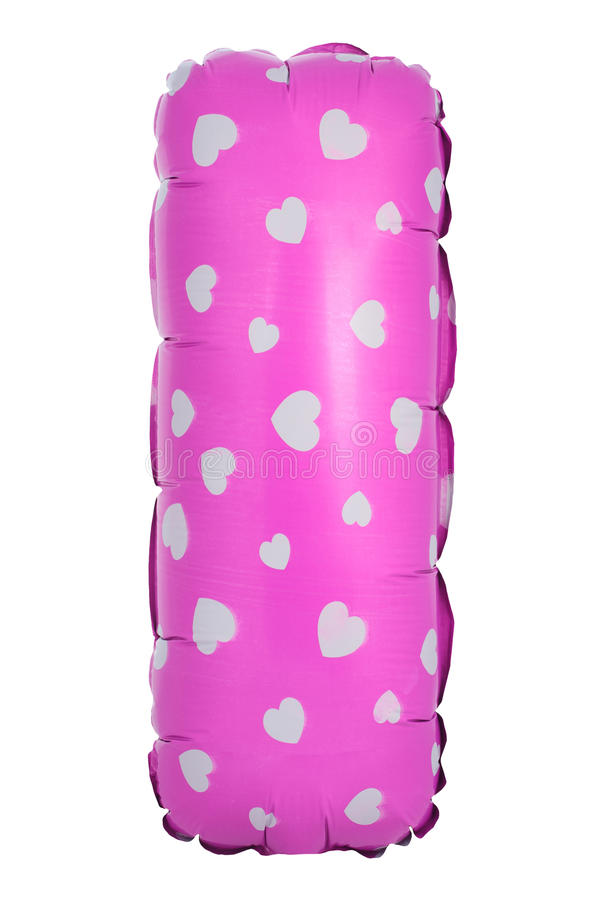 Purpurroter Farbbuchstabe, den ich vom aufblasbaren Ballon machte lizenzfreies stockbild