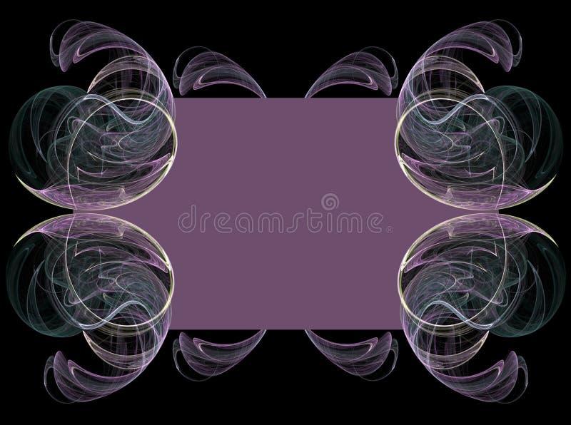 Purpurroter Fractal-hintergrund Stockbilder