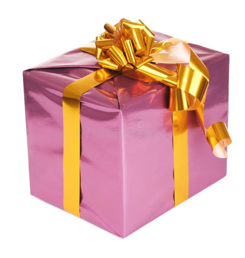 Purpurroter Geschenkkasten lizenzfreie stockfotografie