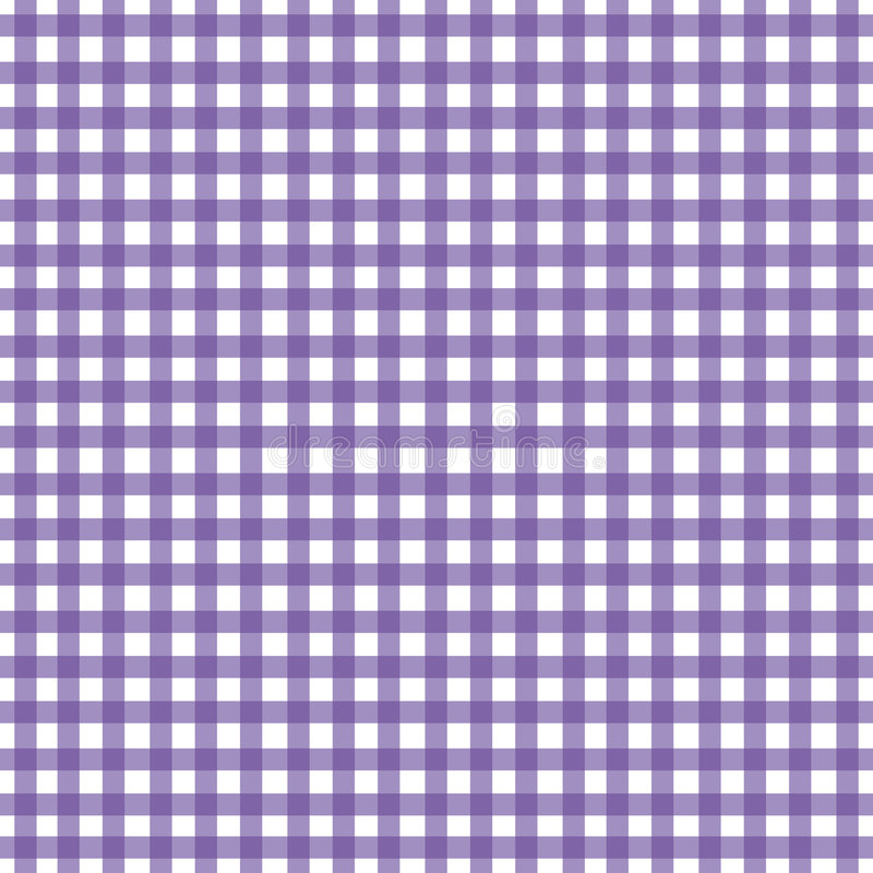 Purpurroter Gingham stock abbildung