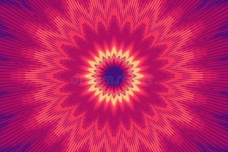 Purpurroter gl?hender Strahlnneonstrahl ultra klar vektor abbildung