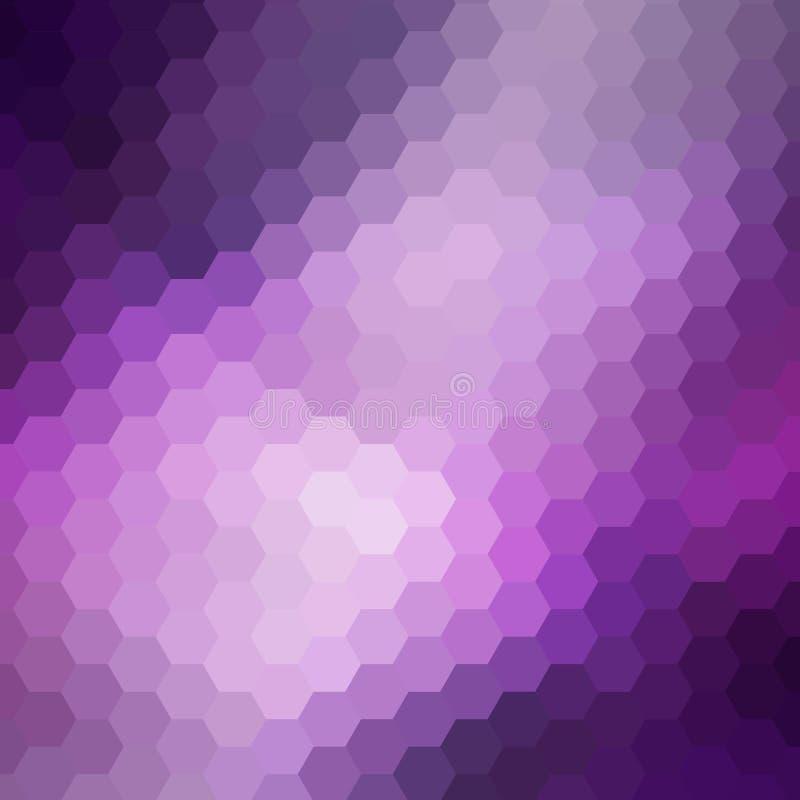 Purpurroter Hexagonhintergrund Auch im corel abgehobenen Betrag Abstraktes Bild Polygonale Art ENV 10 lizenzfreie abbildung