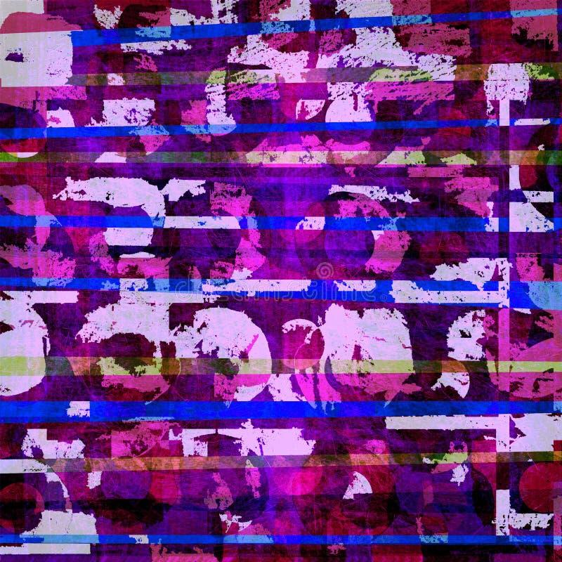 Purpurroter Hintergrund der grafischen Auslegung lizenzfreie abbildung