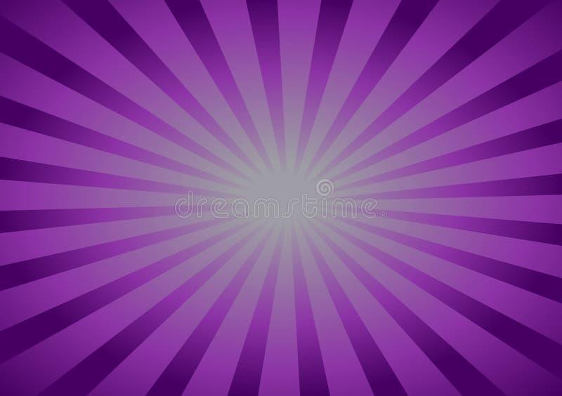 Purpurroter Hintergrund mit den Linien, die zur Mitte laufen lizenzfreie abbildung