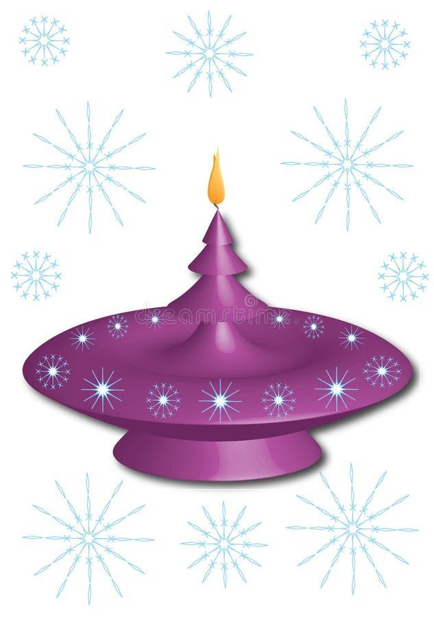 Purpurroter Kerzenständer vektor abbildung