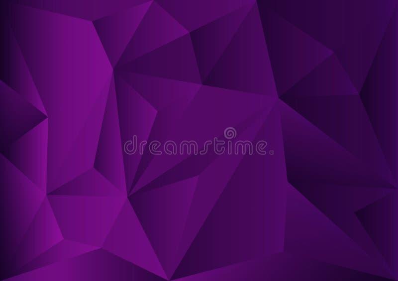Purpurroter polygonaler Hintergrund, Vektorillustration, abstrakte Beschaffenheit vektor abbildung