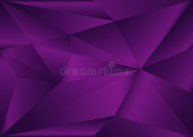 Purpurroter polygonaler Hintergrund, Vektorillustration, abstrakte Beschaffenheit lizenzfreie abbildung