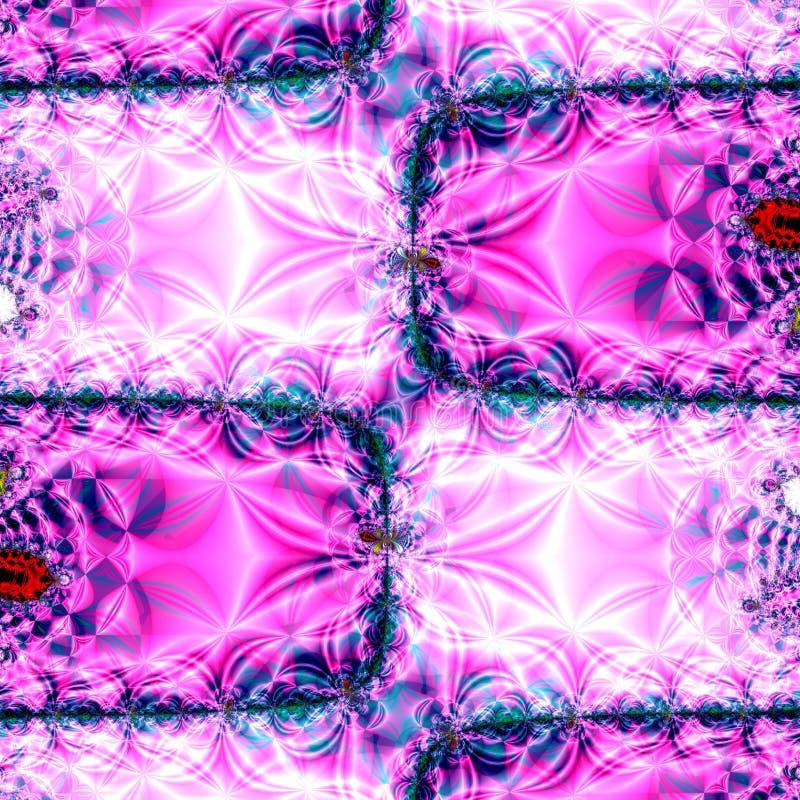 Purpurroter Quiltwork Auszug stock abbildung