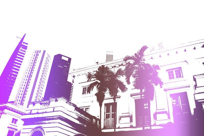 Purpurroter Spaß-Partying Nachtleben-Auszugs-Hintergrund lizenzfreie abbildung