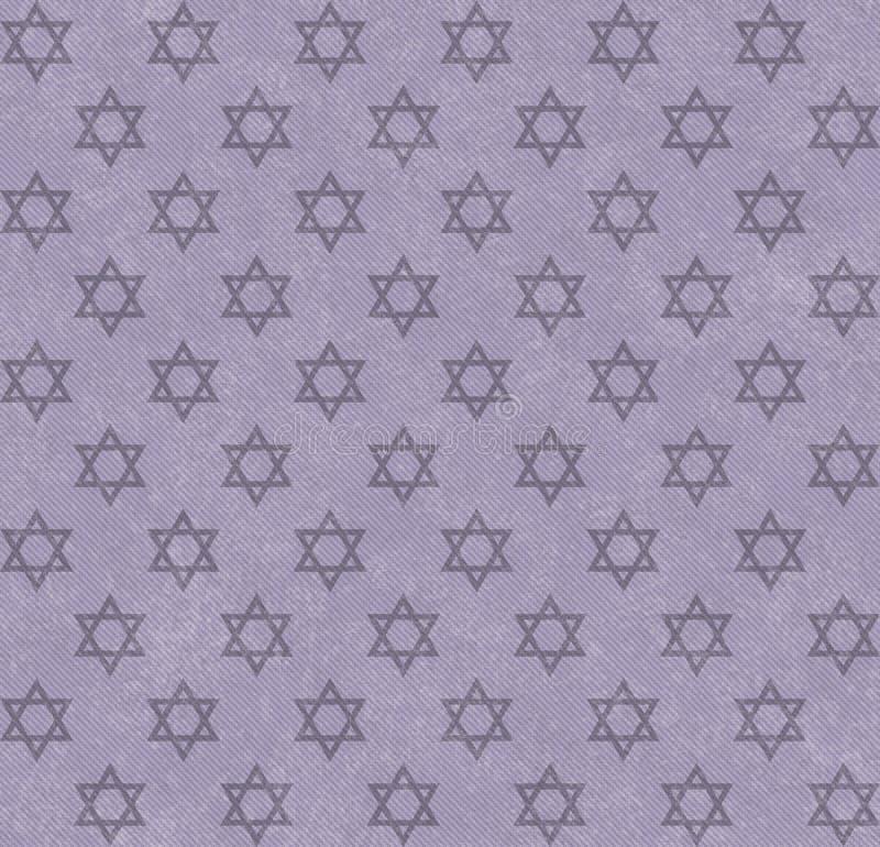 Purpurroter Stern von David Patterned Textured Fabric Background lizenzfreie abbildung