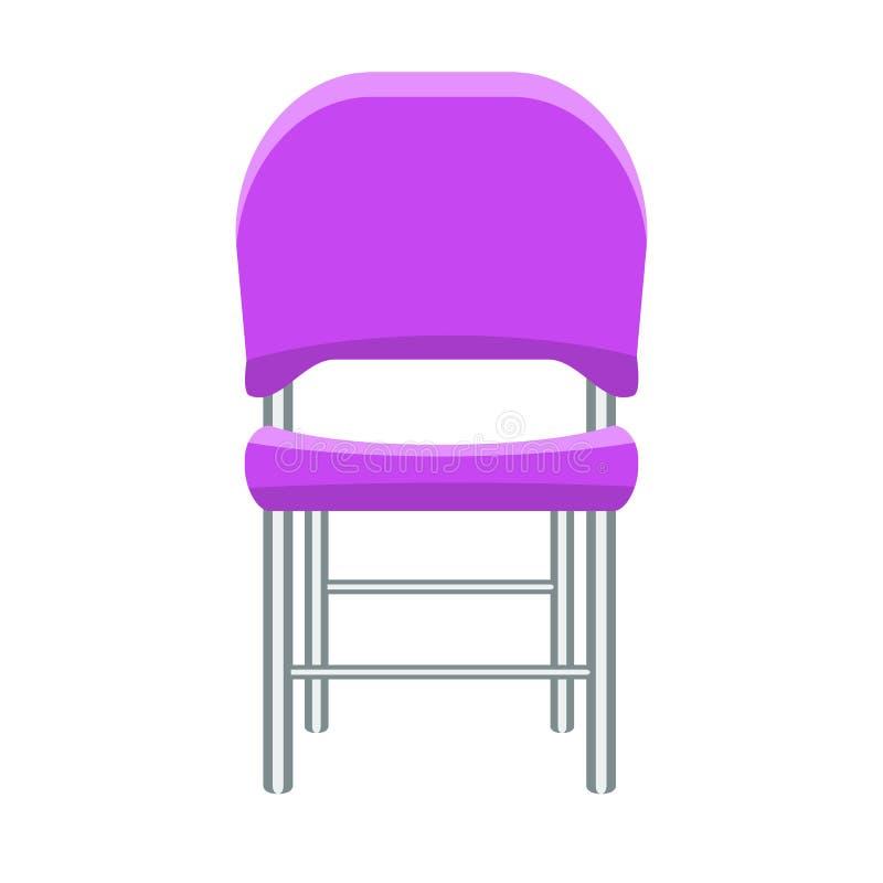 Purpurroter Stuhl mit Entwurf des flachen und Normallacks Auch im corel abgehobenen Betrag vektor abbildung