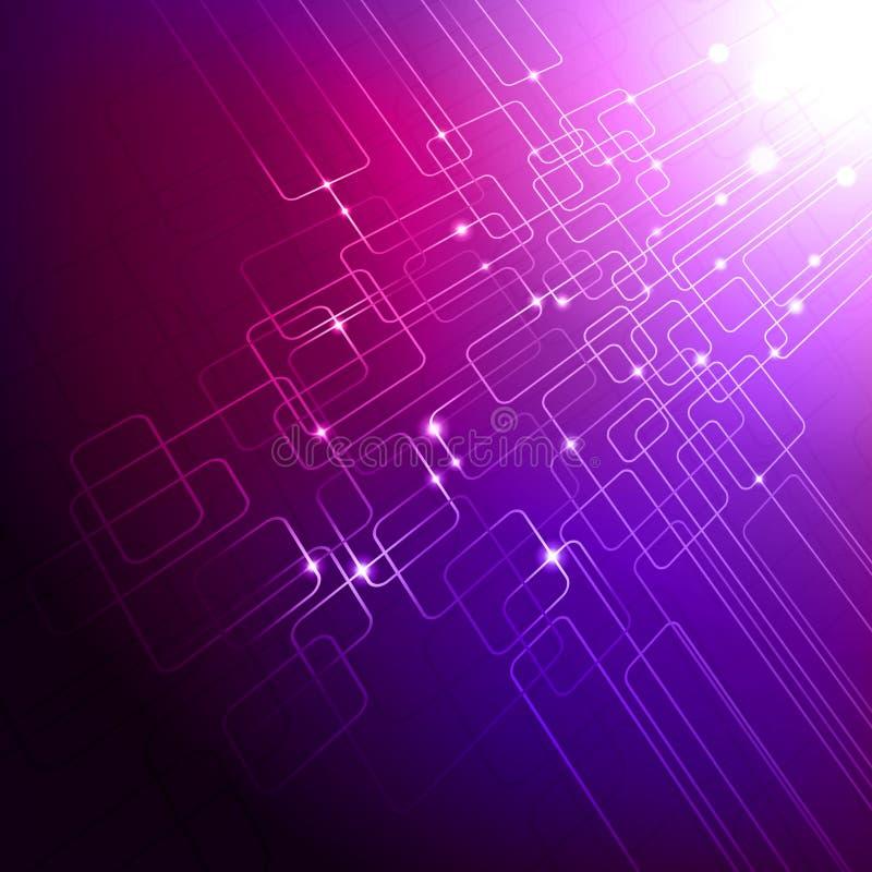 Purpurroter Technologiehintergrund stock abbildung