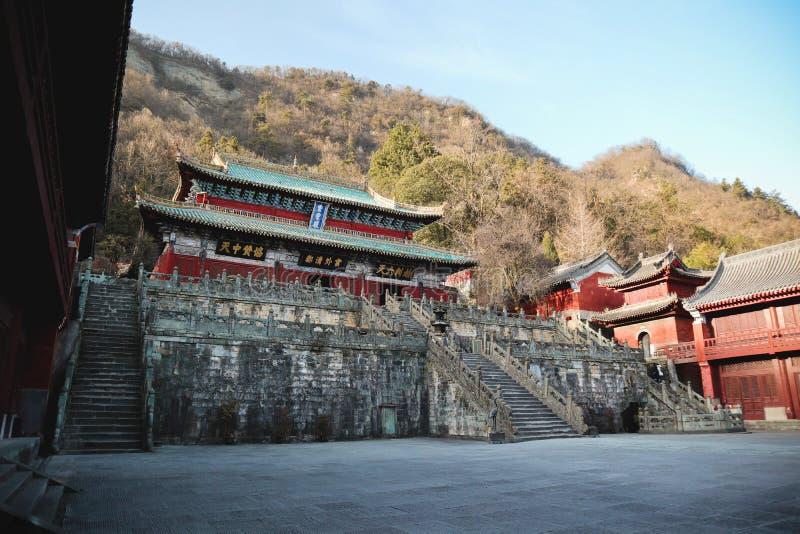 Purpurroter Tempel stockfoto