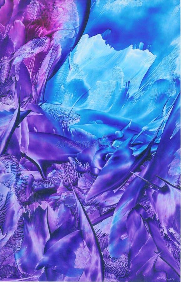 Purpurroter u. blauer Auszug vektor abbildung