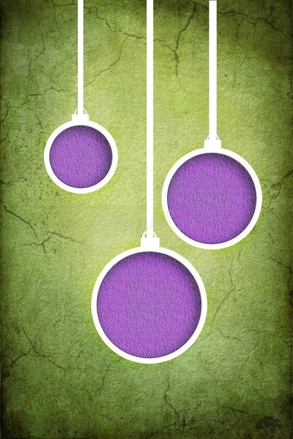 Purpurroter und grüner Weihnachtsflitterillustrations-Beschaffenheitshintergrund vektor abbildung