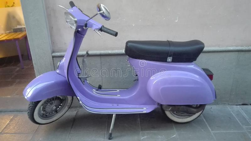 Purpurroter Vespa stockfoto