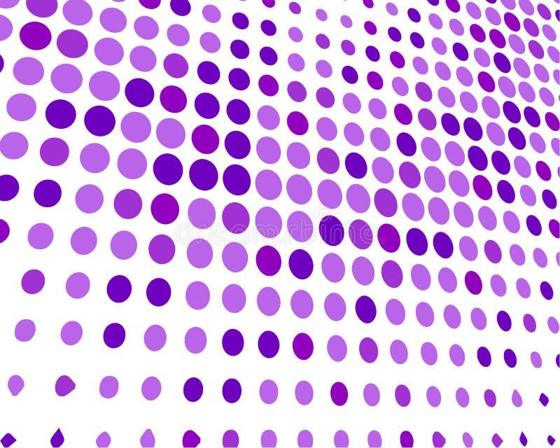 Purpurroter weißer gelegentlicher Dots Background, kreative Entwurfs-Schablonen stock abbildung