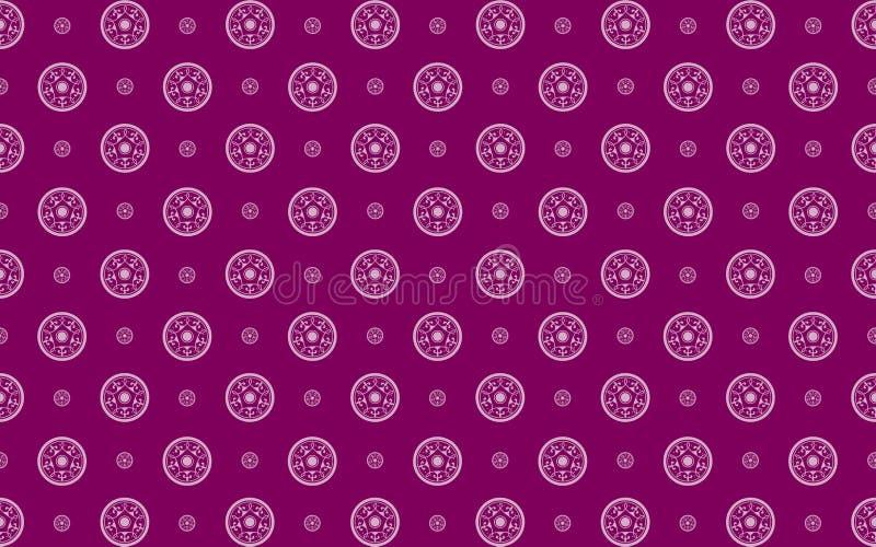 Purpurrotes Damastmuster lizenzfreie abbildung