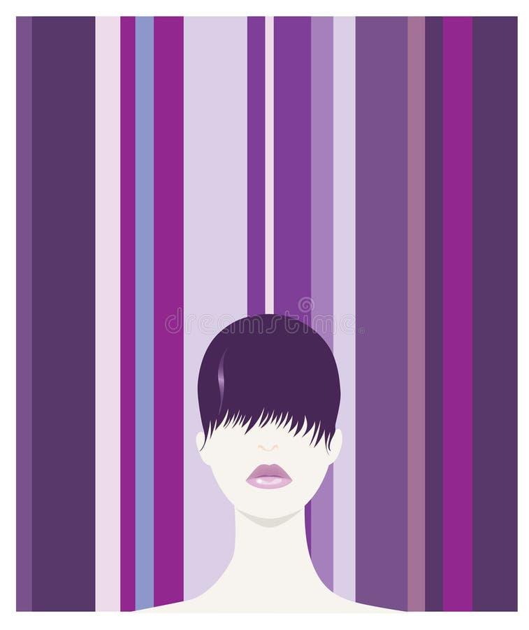 Purpurrotes Haar lizenzfreie abbildung