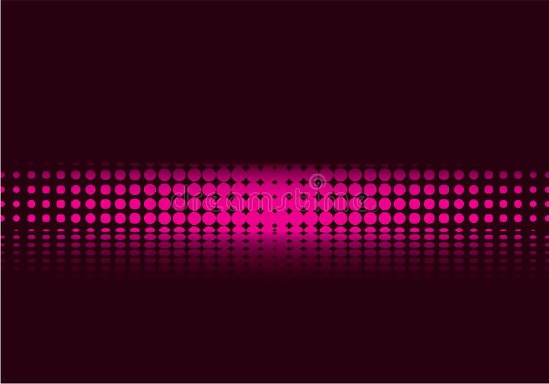 Purpurrotes Halbtonbild stock abbildung
