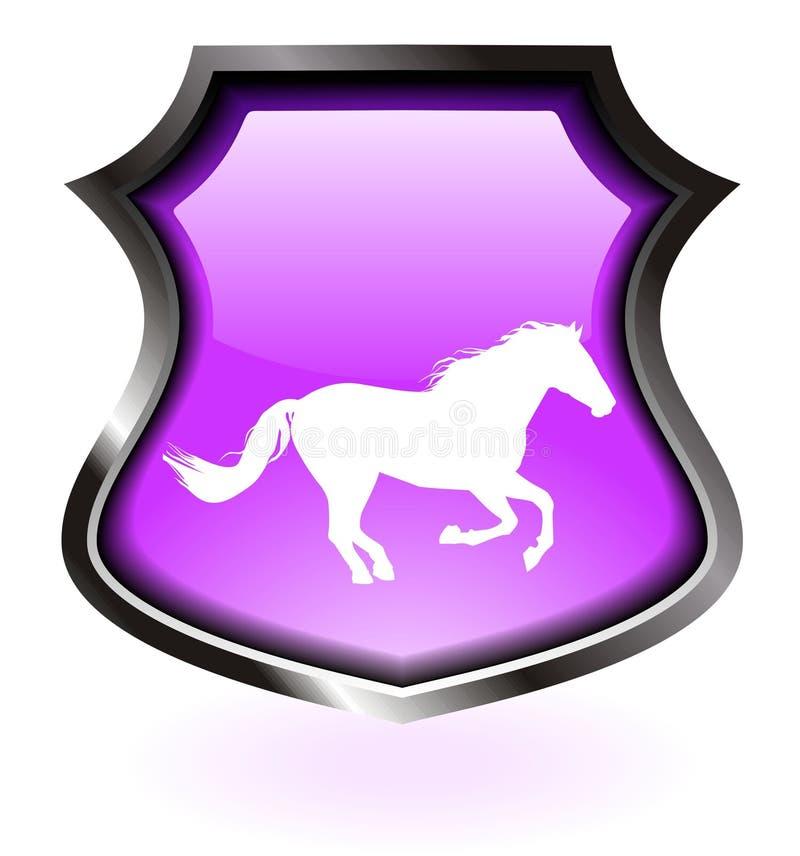 Purpurrotes Pferdenschild   stock abbildung