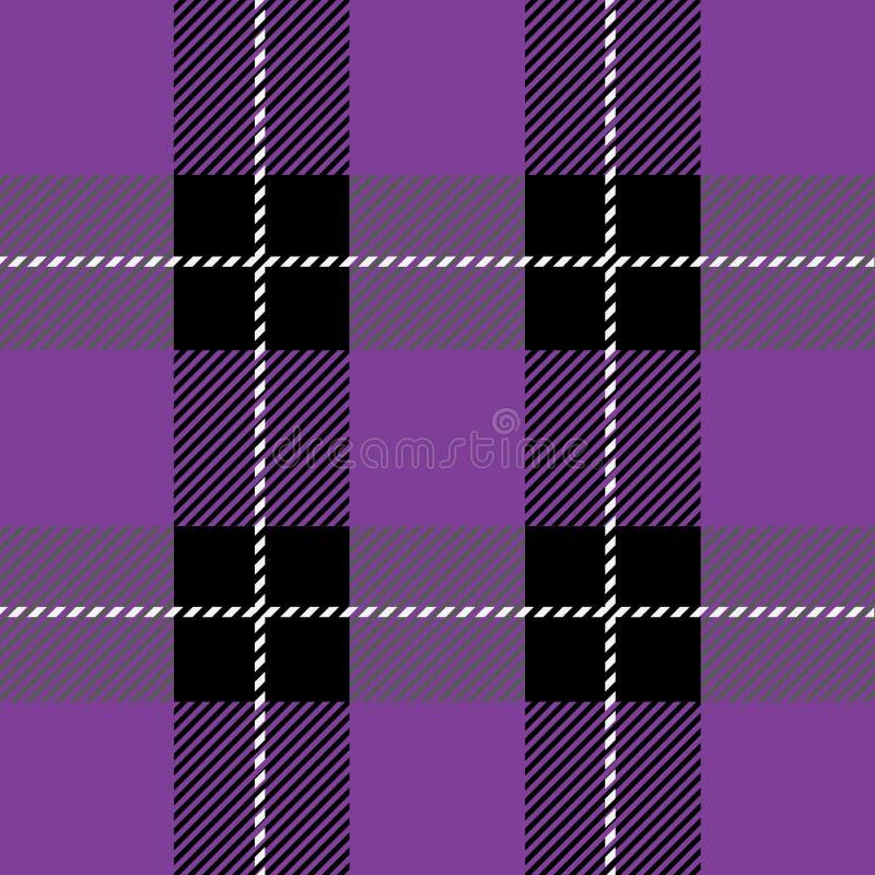 Purpurrotes Schottenstoffplaidmuster vektor abbildung