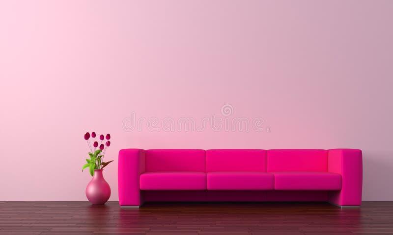Purpurrotes Sofa stock abbildung