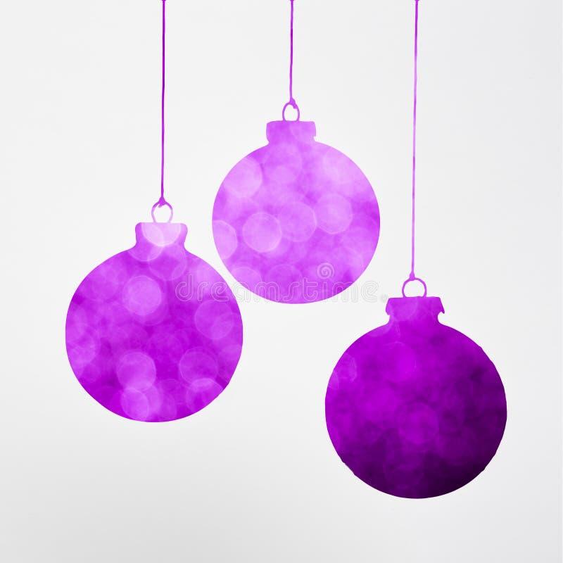 Purpurrotes Weihnachtsdekorationskonzept lizenzfreies stockbild