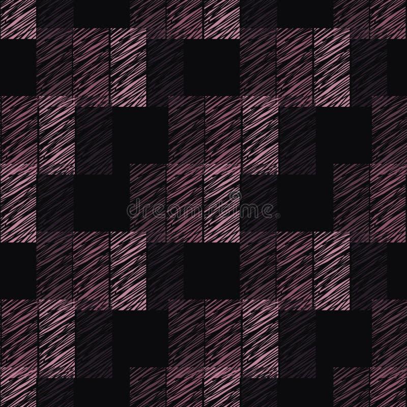 Purpurrotes zahlendes Muster des nahtlosen Vektors vektor abbildung