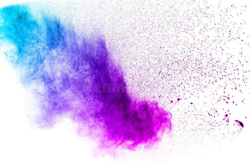 purpury barwią prochową wybuch chmurę odizolowywającą na białym tle zdjęcie royalty free