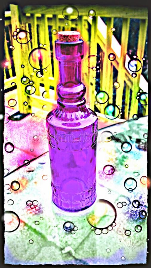 Purpury butelka zdjęcie royalty free