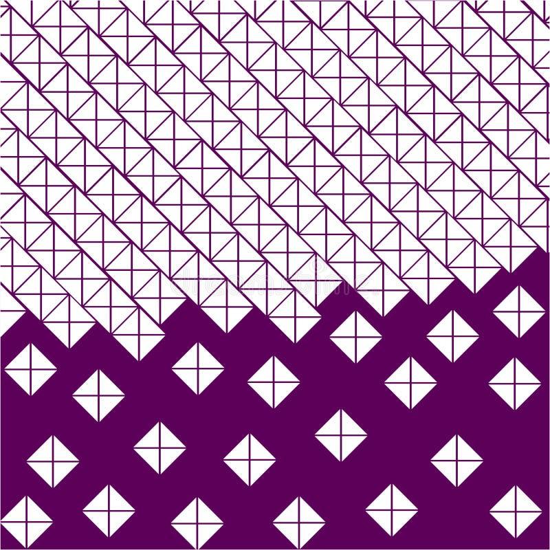 Purpury, fiołkowy tło biali kwadraty i trójboki, ilustracji